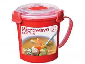 Mug Polipropilene Microwave Con Coperchio Lt0,65  1107