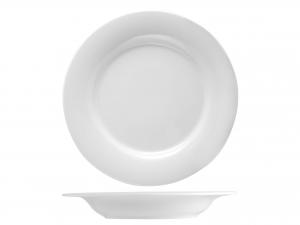 Piatto In Porcellana Firenze Bianco Fondo Cm22