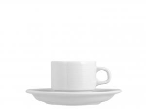 Tazza Caffe' Con Piatto In Porcellana Firenze Bianco 80