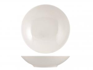 Piatto In Porcellana Royal Zen Bianco Tavola Fondo21