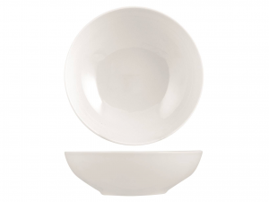 Insalatiera In Porcellana Royal Zen Bianco Cm23