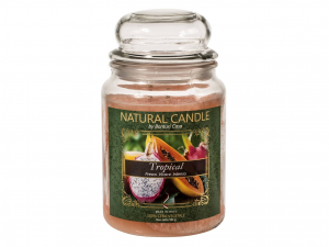 Nature Candle Candela Profumata Tropical, 100% Cera Vegetale