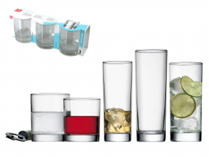 Confezione 3 Bicchieri In Vetro Cortina Cooler 40