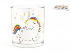 Bicchiere In Vetro Acqua Unicorn Cl25