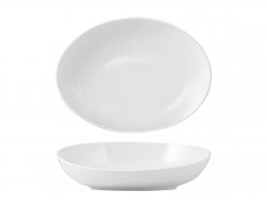 Coppa Ovale In Porcellana, 33x24 Cm, Bianco