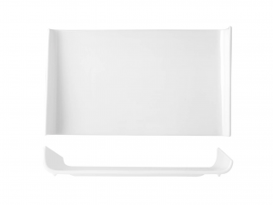 Piatto Rettangolare In Porcellana, 35x21 Cm, Bianco
