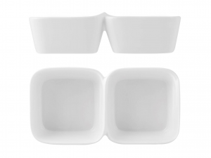 Antipastiera In Porcellana, 21x11 Cm, Bianco