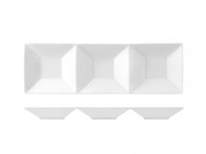 Antipastiera In Porcellana, 23x7,5 Cm, Bianco