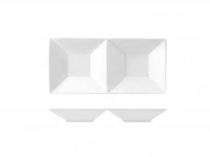 Antipastiera Porcellana Bianco 2 Posti 23x11,5