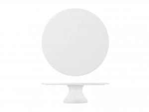 Alzata In Porcellana, ø 20 Cm, Bianco