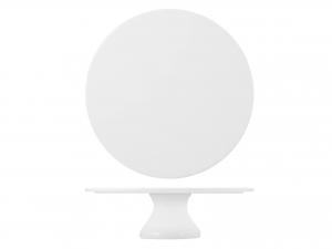Alzata In Porcellana, ø 30 Cm, Bianco