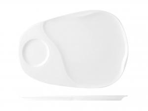 Piatto In Porcellana, 33,5x22 Cm, Bianco