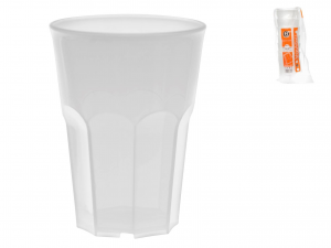6 Bicchieri Movida Poliprop 350 Bianco