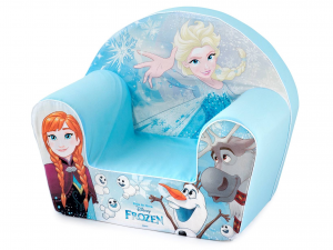 Poltroncina Bimbo Morbida Disney Frozen In Tessuto Decorato