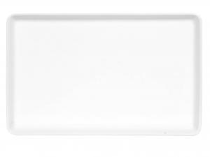 Piatto Rettangolare Porcellana Con Bordo Bb18x26  Hp2776