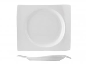 Piatto Rettangolare In Porcellana, 25x21,5 Cm, Bianco