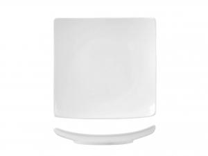 Piatto In Porcellana Bianco Quadro Coupe 20