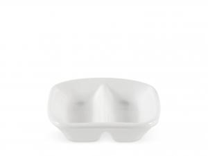 Antipastiera In Porcellana Bianca Quadrata 2p 8 -4174