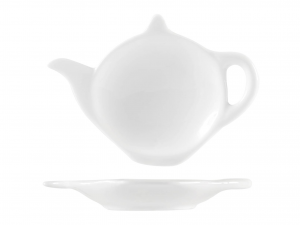 Piattino In Porcellana Bianco F/teiera Cm12 -2430