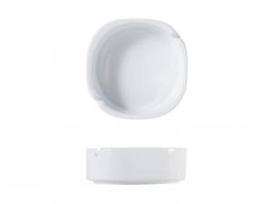 Posacenere In Porcellana Bianco Tondo 9xh2,5 -1504