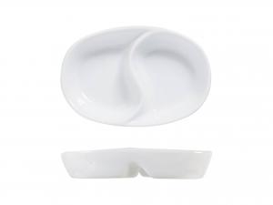 Antipastiera In Porcellana Bianca 2p Oval Cm7x11-4286