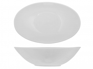 Coppa In Porcellana, 25 Cm, Bianco