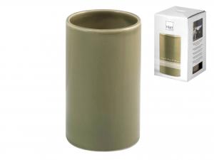 Bicchiere Bagno In Ceramica, H 12 Cm, Verde