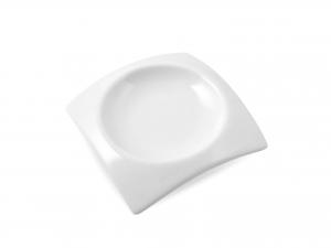 Antipastiera Porcellana Bianco Quadro Cm8