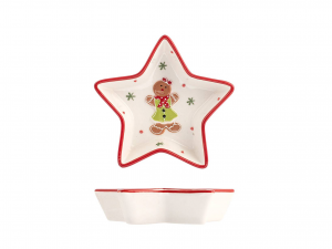 H&h Gingerbread Piatto Stella, Ceramica, 14cm