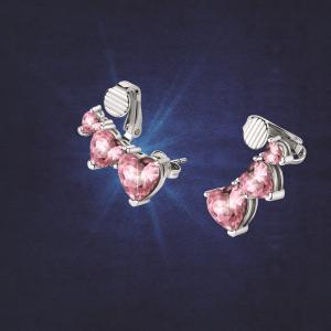 Chiara Ferragni Orecchini Diamond Heart - Pink Trilogy