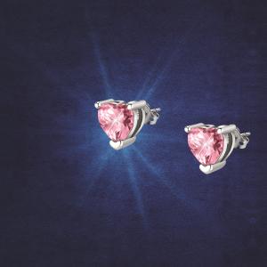 Chiara Ferragni Orecchini Diamond Heart - Pink Heart