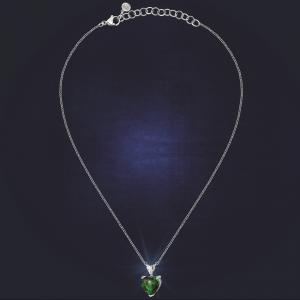 Chiara Ferragni Collana Diamond Heart - Double Heart Green
