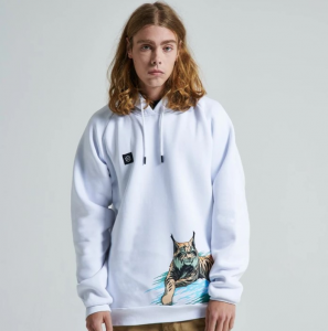 Felpa Dolly Noire Lince Hoodie White