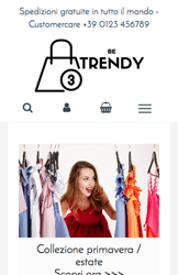 Storeden theme - mobile preview - Be Trendy