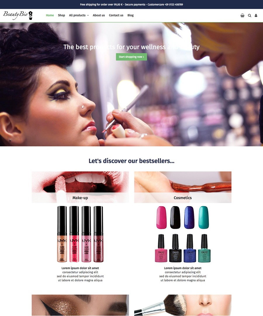 Storeden Theme - Bio Natural Cosmetics