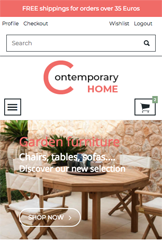 Storeden theme - mobile preview - Contemporary Home