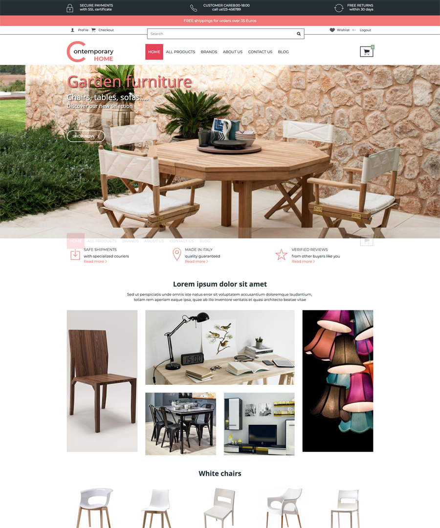 Storeden Theme - Contemporary Home