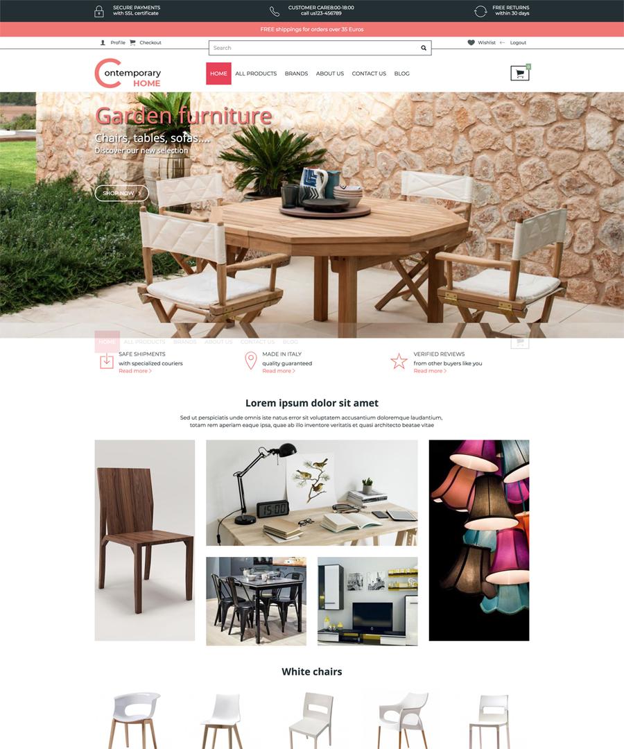 Storeden Theme - Contemporary Home