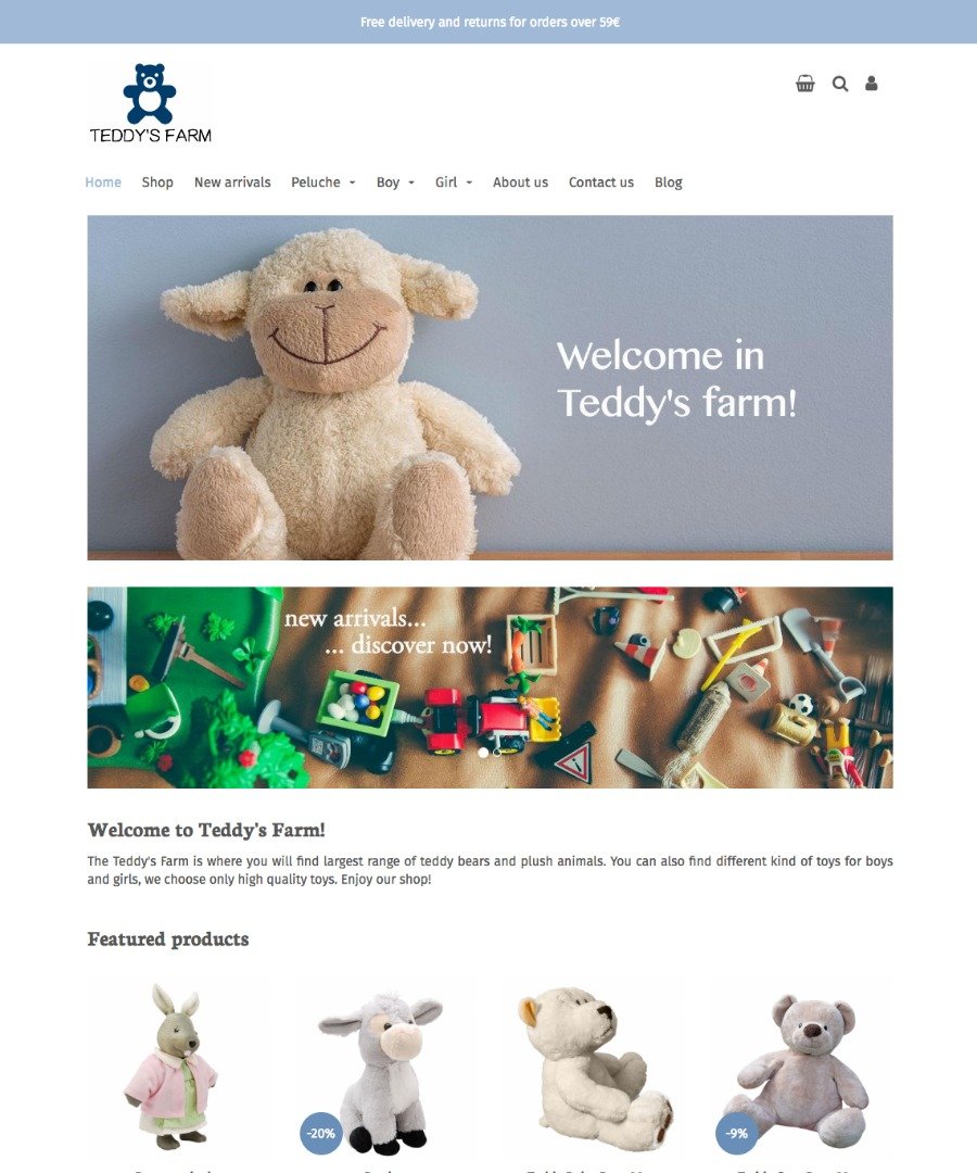 Storeden Theme - Little Teddy's Farm