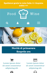 Storeden theme - mobile preview - Food&Wine