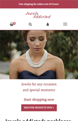 Storeden theme - mobile preview - Jewels addicted