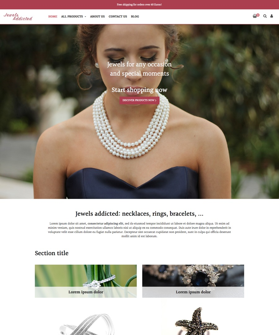 Storeden Theme - Jewels addicted