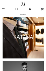Storeden theme - mobile preview - Katana