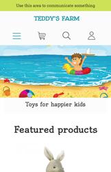 Storeden theme - mobile preview - Kid's Joy