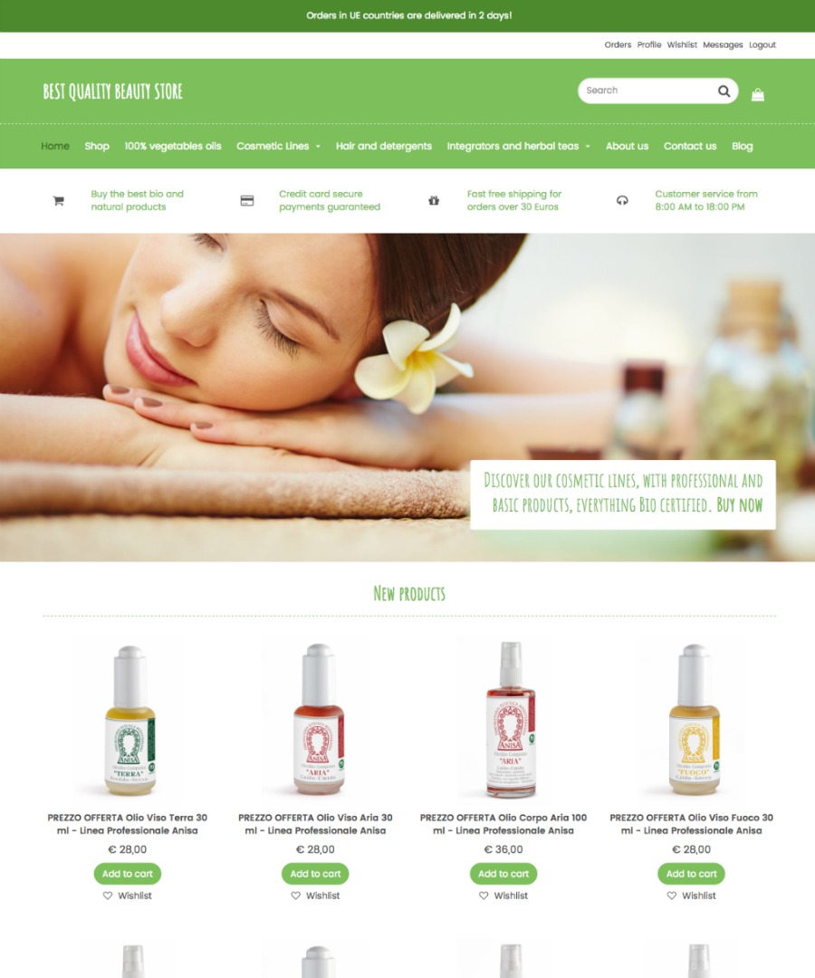 Storeden Theme - Beautiful & Healty