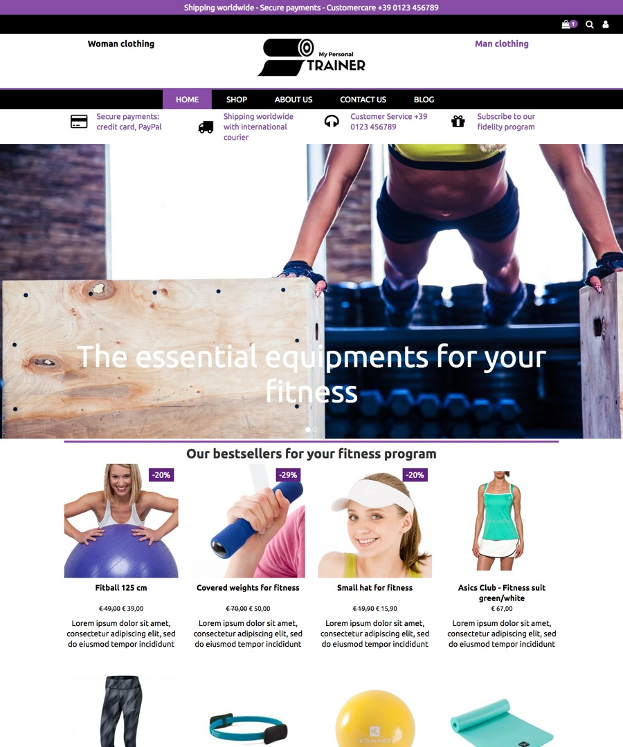 Storeden Theme - My Personal Trainer