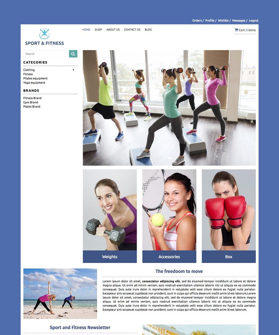 Storeden Theme - Sport & Fitness