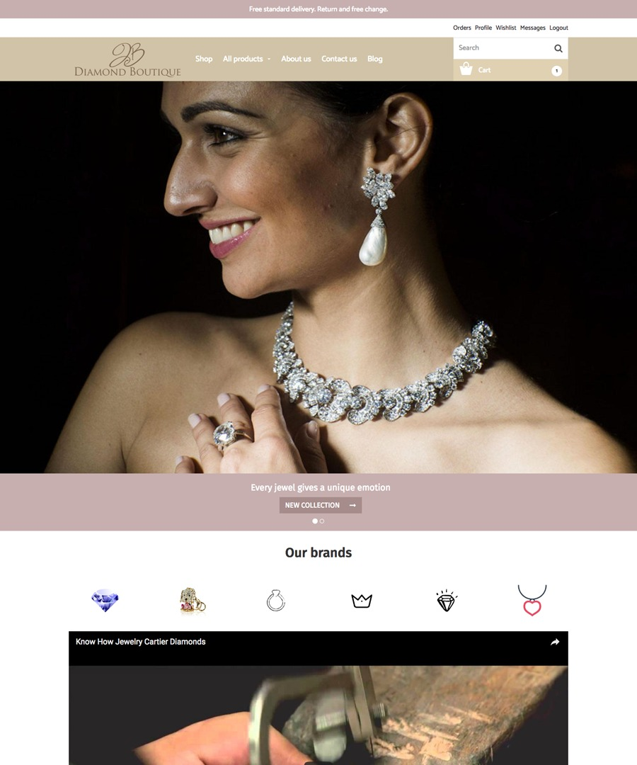 Storeden Theme - The Diamond Boutique
