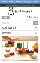 Storeden theme - mobile preview - Toys Seller