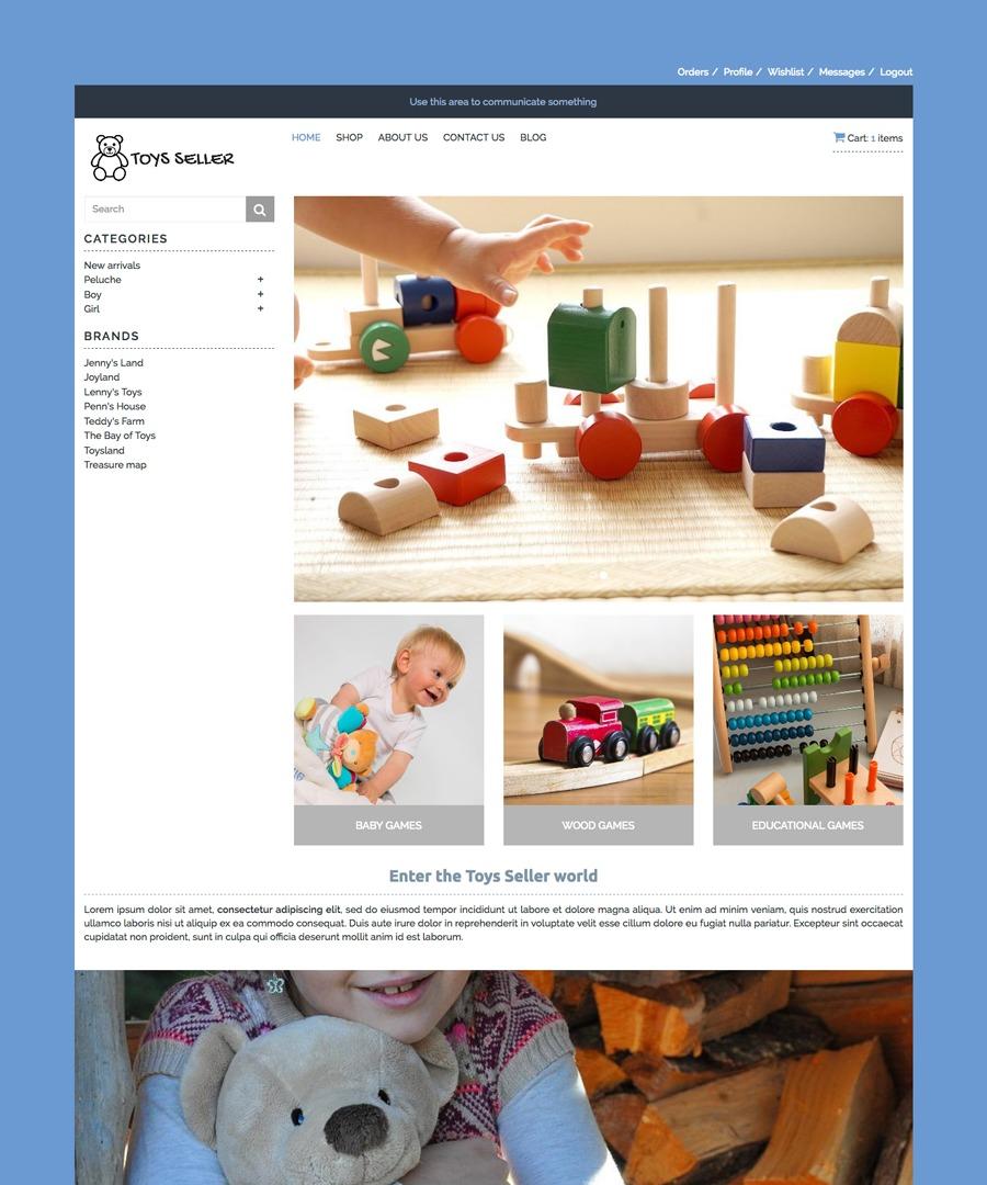 Storeden Theme - Toys Seller